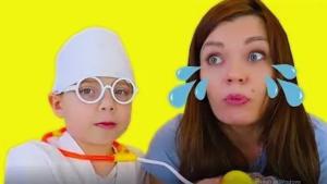 Как вылечили грустную маму (веселая история)